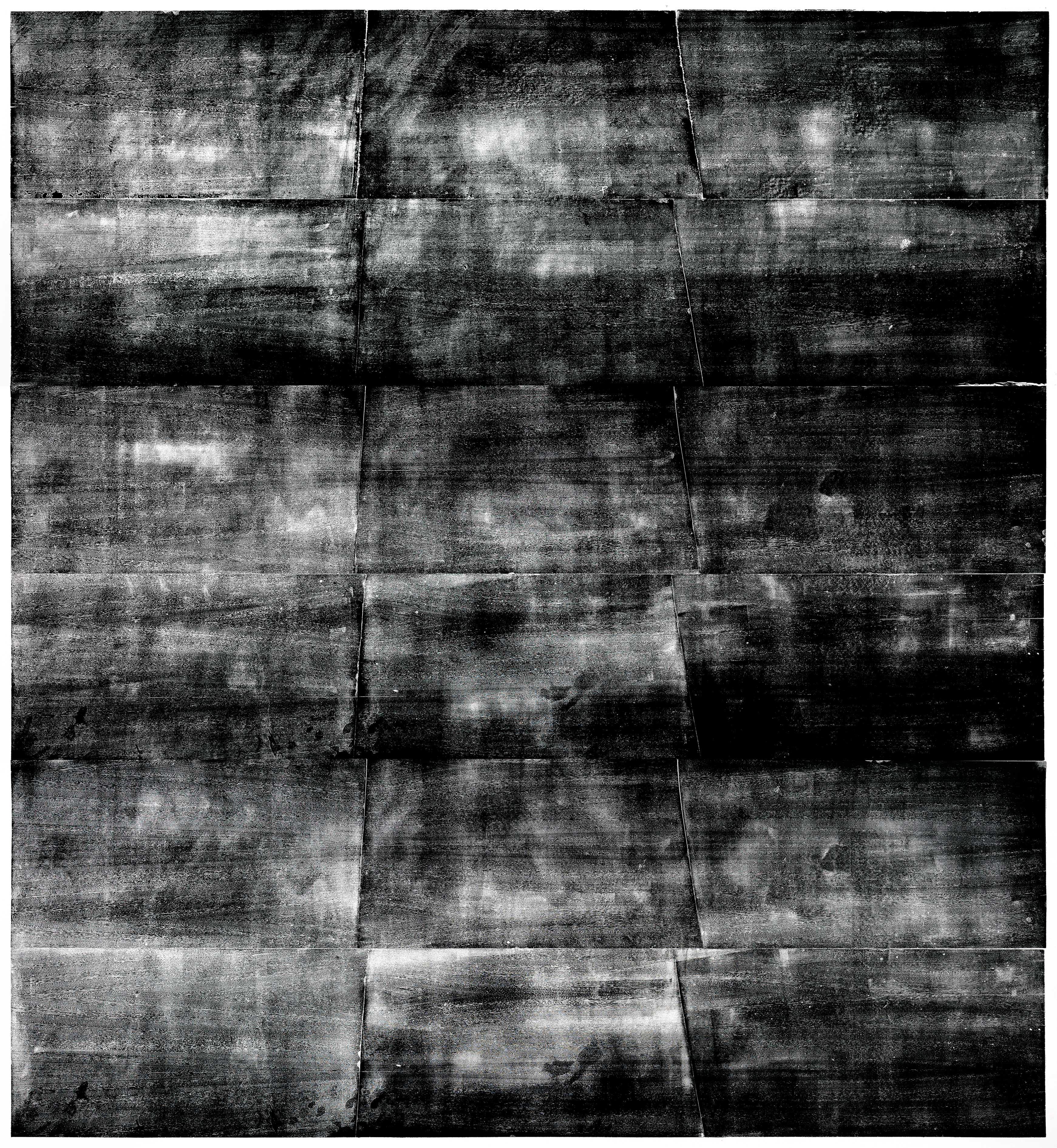 Spreewasser (Dezember), Holzgravur (Mahagoni), 289,3x271,4cm, 2019, Genaro Strobel