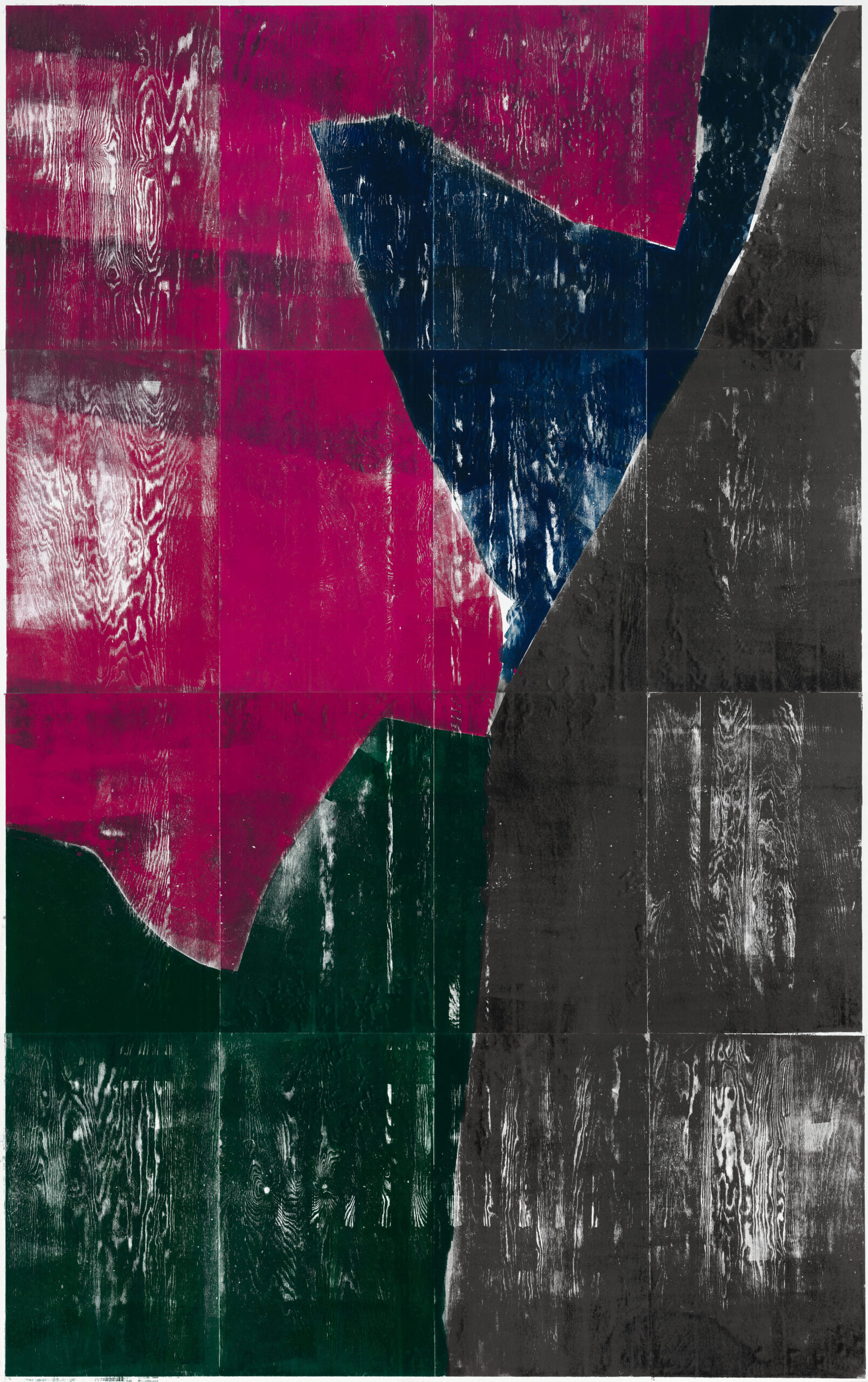 Farbkreis 6, 2020, wood engraving, 391,8 x 257,5 cm