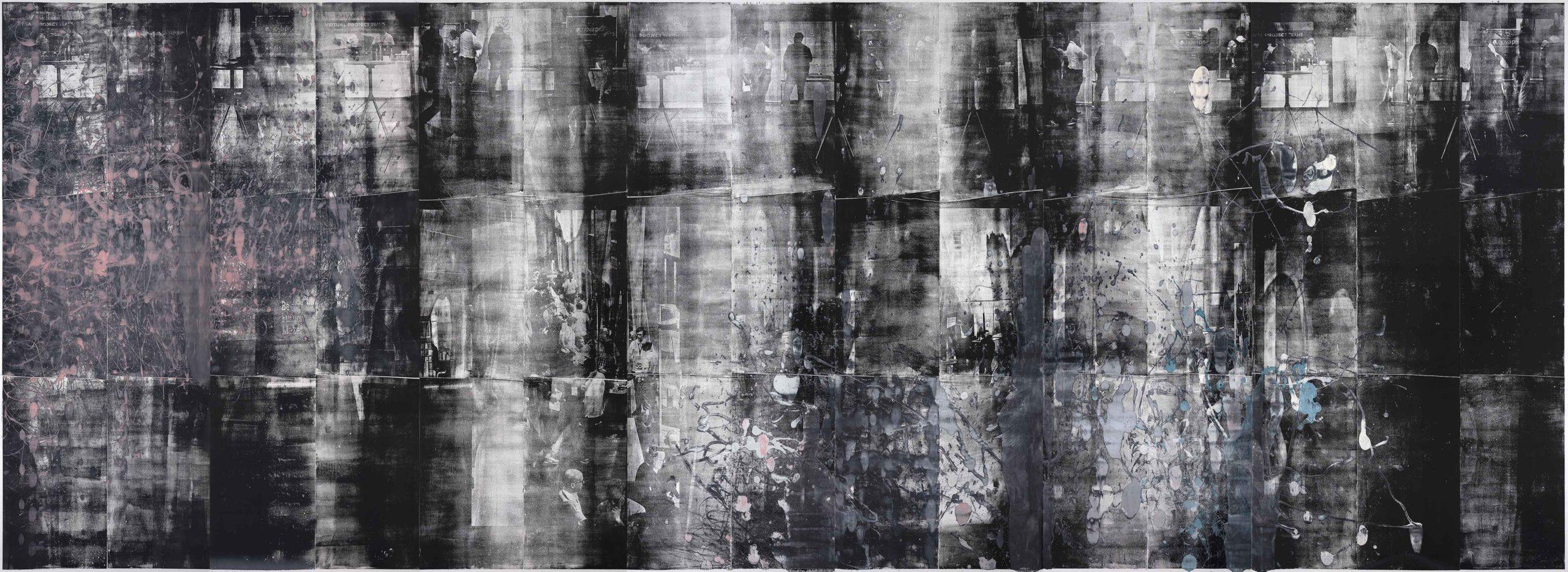Kohärenz, 2019, wood engraving, 273,5 x 705,2 cm