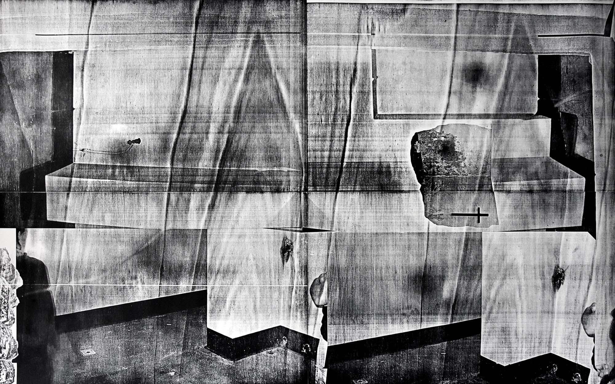 Pappel artwork paper woodcut Stasi execution site Stasi Hinrichtungsstätte Leipzig DDR