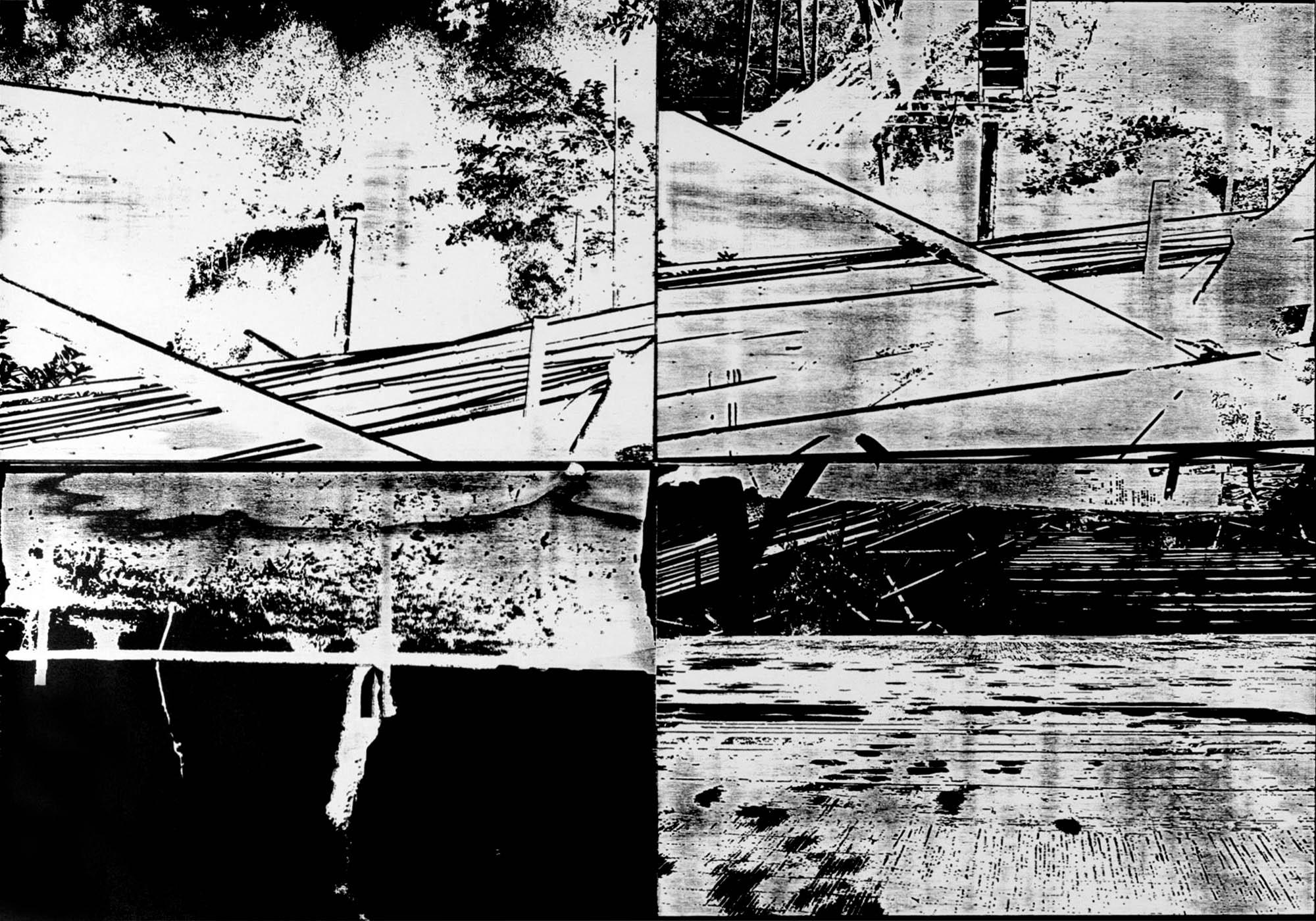 Art Age artwork paper woodcut Bamboo Treehouse Villa Romana Florence Florenz