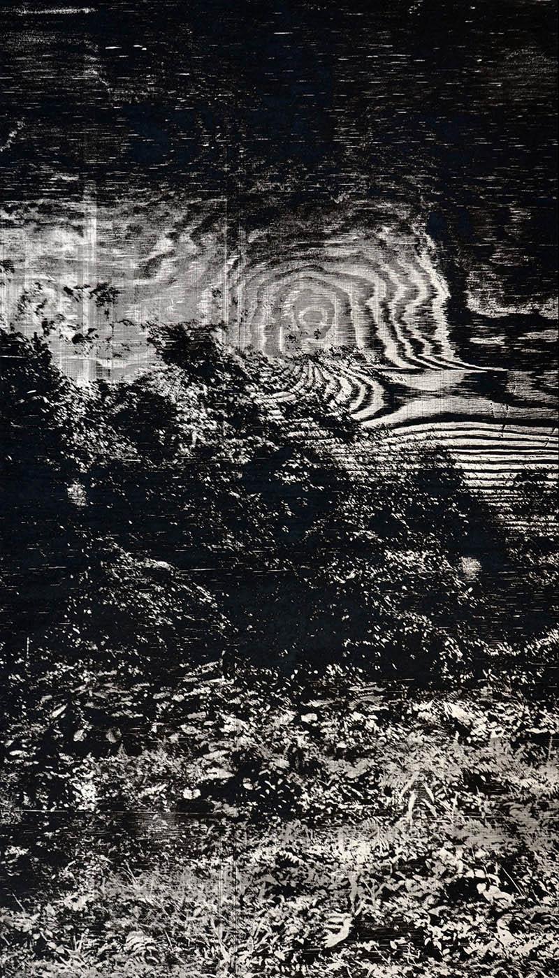 artwork paper woodcut blue silence blaue Stille Miles Davis