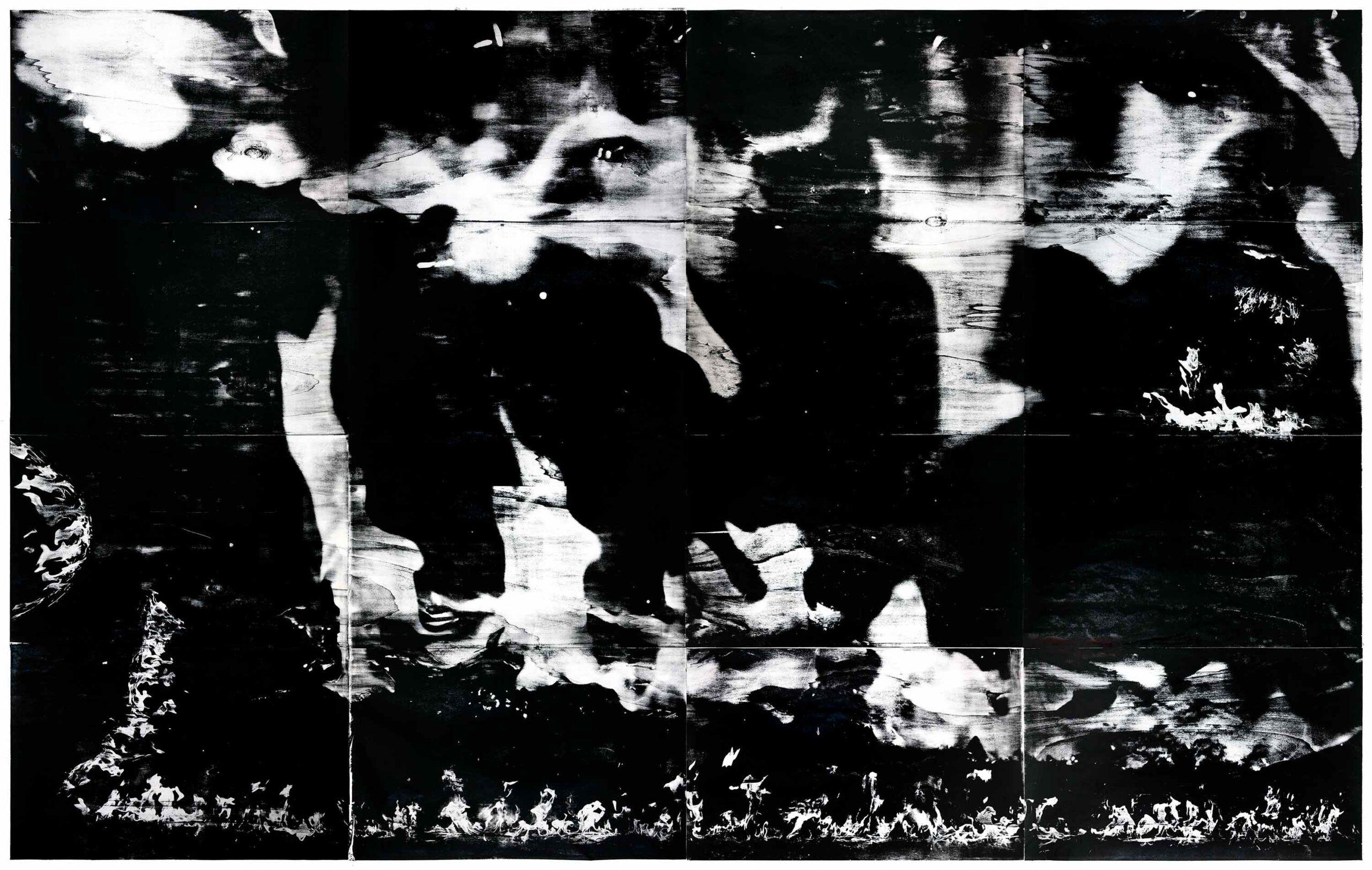 Flammen (s), 2020, wood engraving, 271 x 392 cm