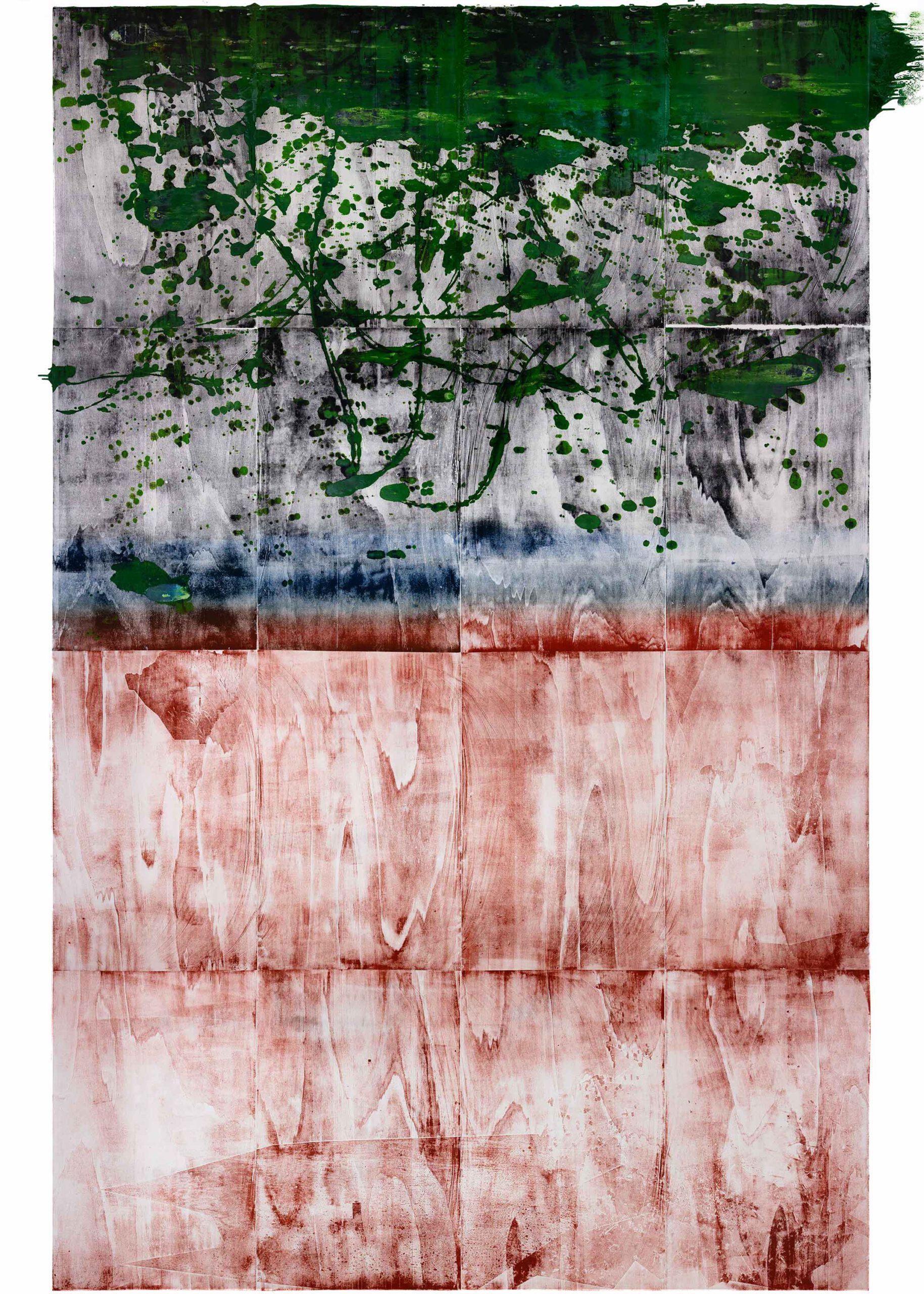 Sehr alter Traum Fortsetzung, 2020, wood engraving, 398 x 285,5 cm