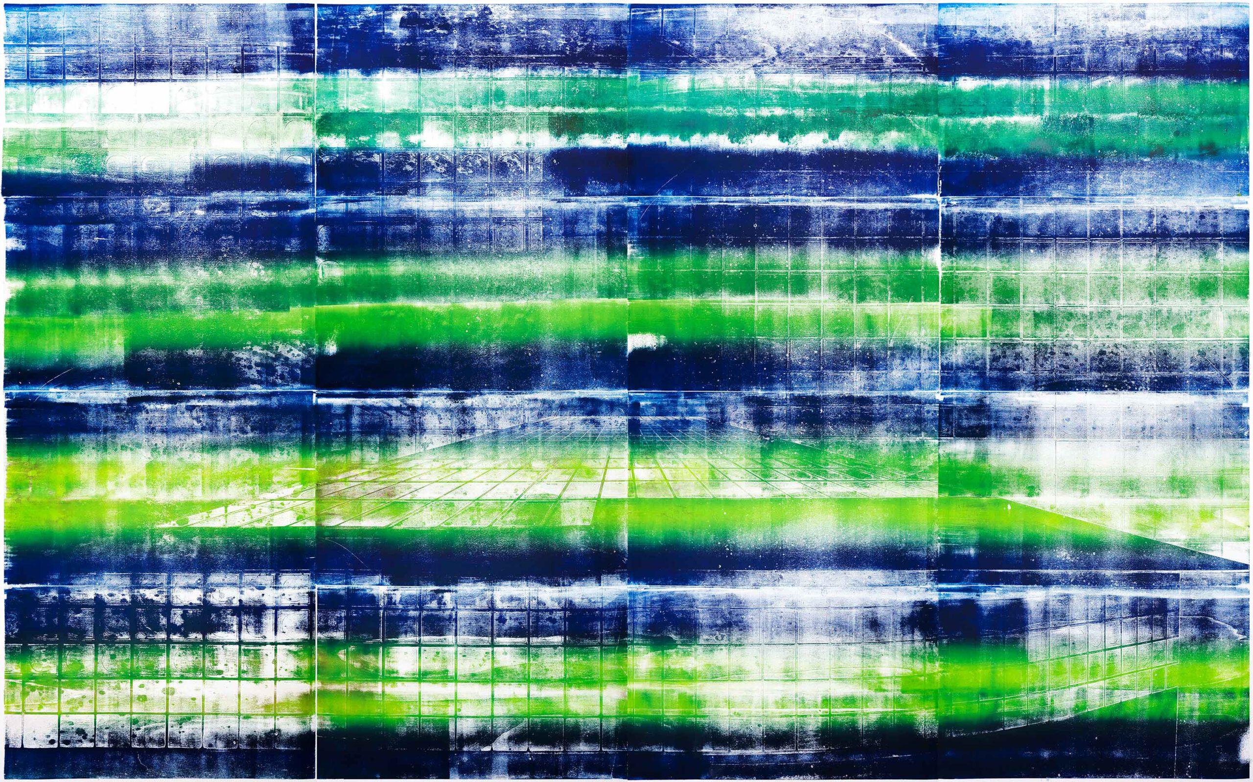 Wellen, 2020, wood engraving, 252,8 x 392,2 cm