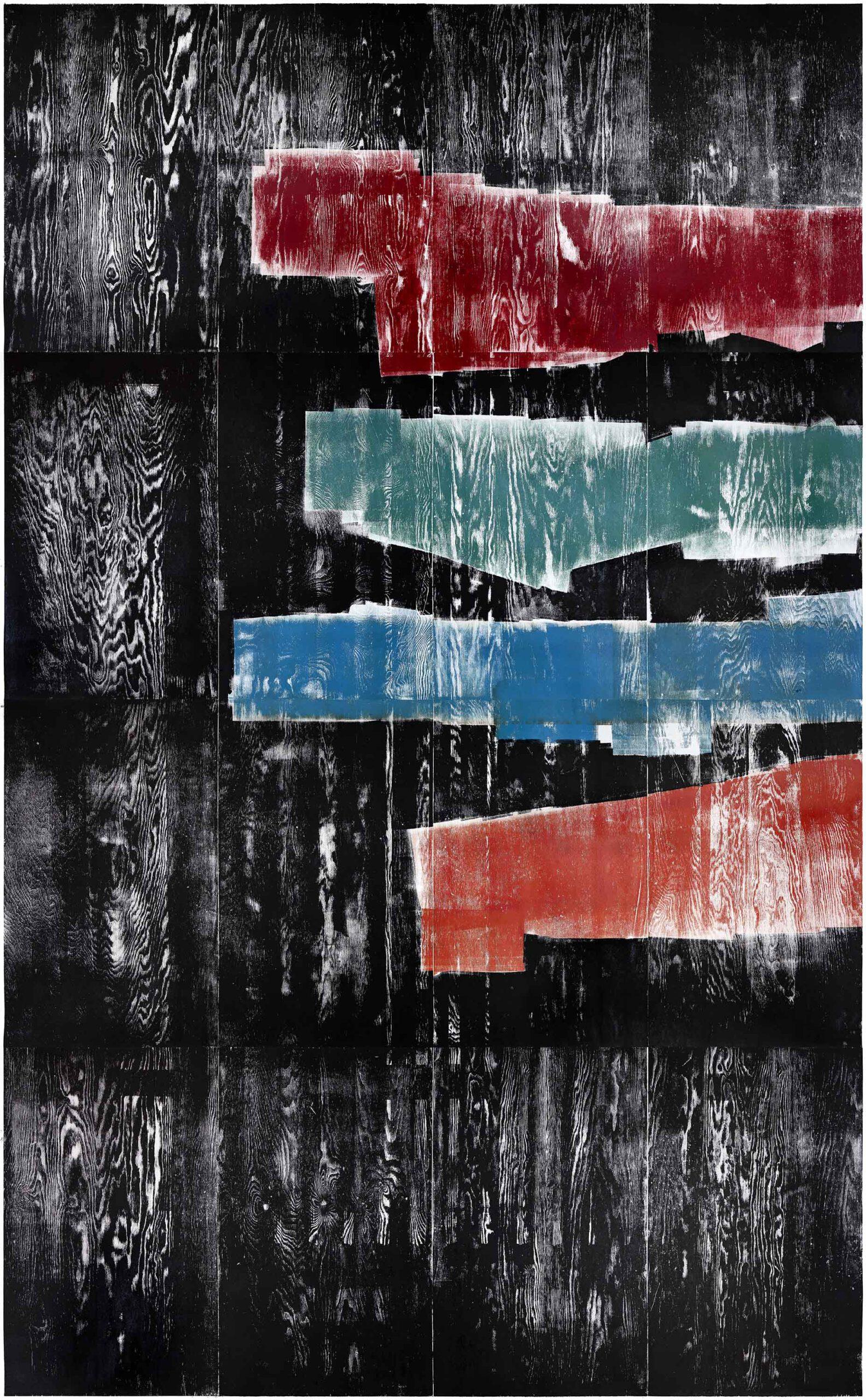 Score, 2020, wood engraving, 405,2 x 259,5cm, Genaro Strobel
